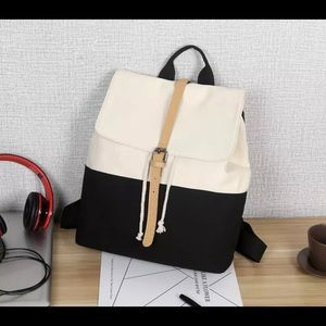Backpack Large Canvas Cream & Black